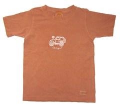 "Life is Good ® Youth/Kid's ""Native Jeep"" Short Sleeve Tee (Redwood)"
