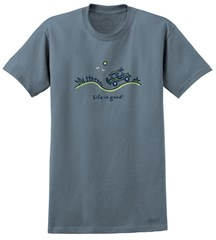 """CLOSEOUT - Life is Good """"Beach Ride"""" Men's Tee on Extra Blue"""