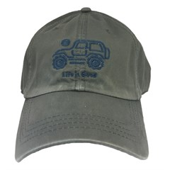 Life is Good Native Offroad Chill Cap - Navy Jeep on Slate Gray Hat