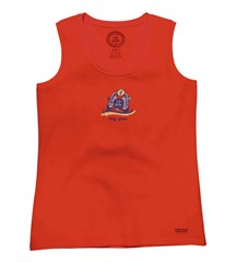 """CLOSEOUT - Life is Good """"Dog Gone"""" Women's Tank, Poppy Red"""
