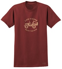 CLOSEOUT Life is Good Stamped Off Road Antique Red Tee