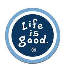 Life is Good Round Car Magnet- True Blue/Dark Blue