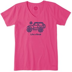 "CLOSEOUT - Life is Good Women's ""Native Offroad"" Shirt in True Blue"