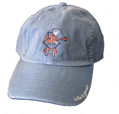 """Life is Good """"Acoustic Jake with Guitar"""" Baseball Hat, Shadow Blue"""