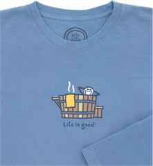 All Things Jeep - Blue Rustic Hot Tub Life is Good Men's Long ...