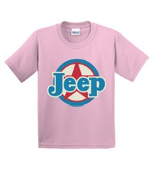 Light Pink Youth Jeep Star Short Sleeved Shirt