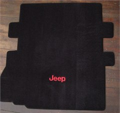 Lloyd Custom Jeep Cargo Mat (with seat cutout) w/Jeep® Logo Embroidery For 2007-2011 Jeep® Wrangler JK 2 Door