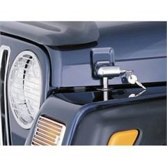 Chrome Locking Hood Catch Kit for Jeep Wrangler TJ, LJ 1998-2006