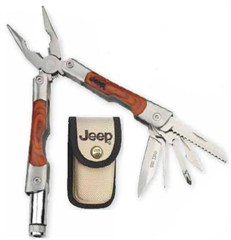 Jeep MultiTool with LED light (wooden handle)