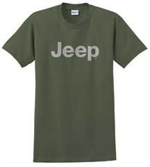 Men's T-Shirt with Light Gray Jeep Logo