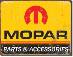 1964-1971 Mopar Parts & Accessories Logo, Metal Garage Sign
