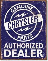 Genuine Chrysler Parts Authorized Dealer Blue/White Sign