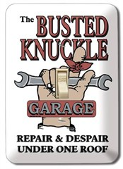 Busted Knuckle Garage Light Switch Plate