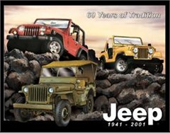 Nostalgic Jeep Tin Sign - 60 Years of Tradition