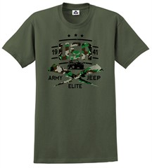 Army Elite Woodland Camo Men's T-Shirt, by All Things Jeep