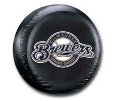 Milwaukee Brewers MLB Tire Cover - Black Vinyl