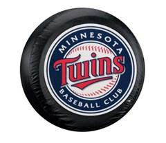 Minnesota Twins MLB Tire Cover - Black Vinyl