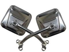 Mirror Kit, 76-95 Jeep CJ & Wrangler YJ, Stainless