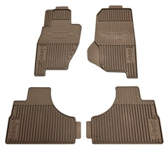 Front & Rear Slush Mat Kit for Jeep Liberty 2002-2007 in Dark Taupe by Mopar