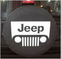 Jeep Grille Logo Spare Tire Cover