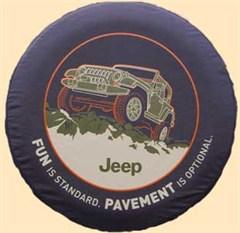 """Jeep Tire Cover, """"Pavement Optional"""", by Mopar"""