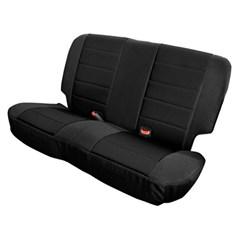 Neoprene Rear Seat Covers CJ Wrangler YJ 1980 1995 Black
