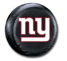 New York Giants NFL Tire Cover - Black Vinyl