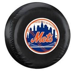 New York Mets MLB Tire Cover - Black Vinyl