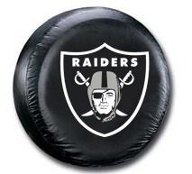 Oakland Raiders NFL Tire Cover - Black Vinyl