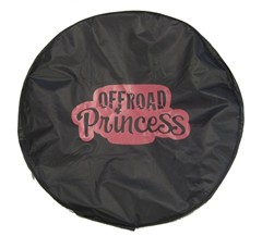 Off-Road Princess Black Spare Wheel Cover-Pink