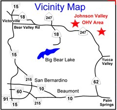 Off Road Map - Johnson Valley, Yucca Valley, CA