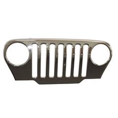 Chrome Grille Overlay for Jeep Wrangler TJ (1997-2006)