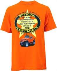 CLOSEOUT (Medium Only) Official Jeep Fanatic T-Shirt (Orange)