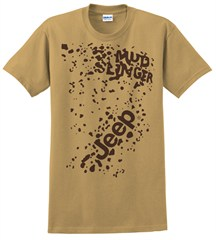 Closeout - Jeep Mudslingers, Only in a Jeep, Mud Splattered Tee - Small