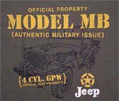 CLOSEOUT (Small Only) - Jeep® Model MB Military T-Shirt (Sage)