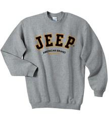 Jeep Crew Sweatshirt with Jeep® Logo (Grey)