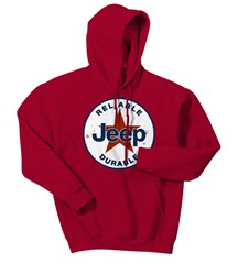 CLOSEOUT (3XL Only) - Red Jeep® Star Hooded Sweatshirt