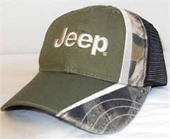 Jeep Olive Green & Camo Mesh Backed Cap