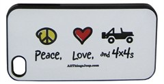 """Peace, Love, and 4x4s"" iPhone Hard Case by All Things Jeep"