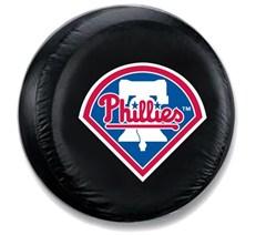 Philadelphia Phillies MLB Tire Cover - Black Vinyl