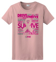 "Pink Ribbon ""Drive, Survive, Thrive"" Women's Short Sleeved Shirt"