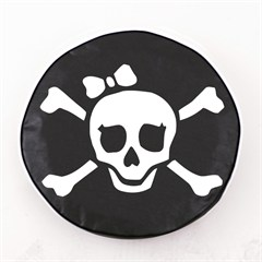 Pirate Girl  Jolly Roger Tire Cover