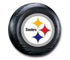 Pittsburgh Steelers NFL Tire Cover - Black Vinyl