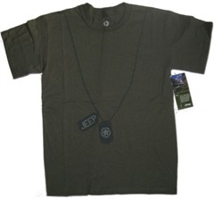 CLOSEOUT - Jeep Dog Tags Army Green Men's Tee