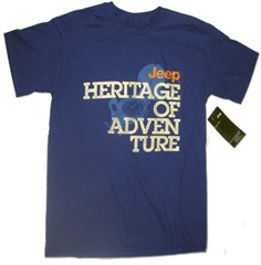 CLOSEOUT (Small Only) - Heritage of Adventure-Jeep, Men's Royal Blue Tee