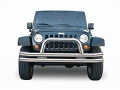 Double Tube Bumper w/ Hoop Wrangler JK 2007-2017 Front Stainless Steel