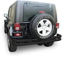 Double Tube Bumper for Jeep Wrangler JK 2007-2018 Rear Textured Black