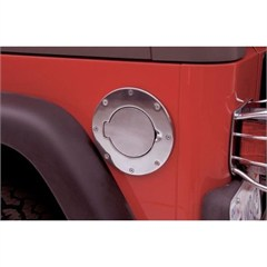 Billet Style Gas Door Cover w/o Lock Wrangler JK 2007-2018 in Chrome