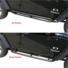 SRS Side Bar Retractable Rockslider Step Wrangler JK 4D 2007-2017