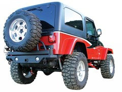 Rear Recovery Bumper w/Tire Carrier Wrangler 1987-2006 Textured